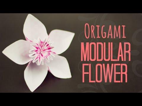 Modular flower origami instructions youtube modular flower origami instructions mightylinksfo