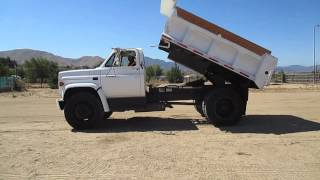 Dump Truck start up with Frank Garcia