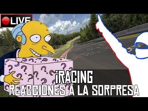 Reacciones a la sorpresa de iRacing en directo