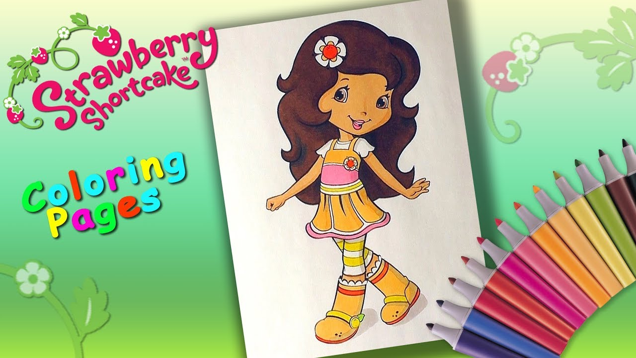 Strawberry Shortcake Coloring Book Coloring Orange Blossom Coloring ...