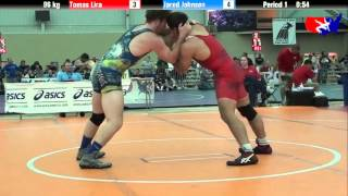 Tomas Lira vs. Jared Johnson at 2013 ASICS University Nationals - FS