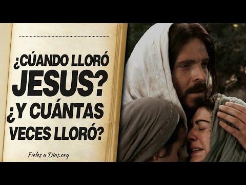 🙏 ¿Cuándo Lloró Jesús? ¿Y CUÁNTAS VECES LLORÓ? 📖