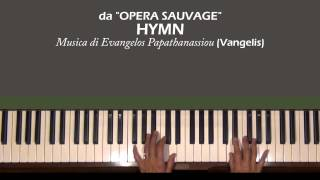 Vangelis HYMN from Opéra sauvage Piano Tutorial Part 1