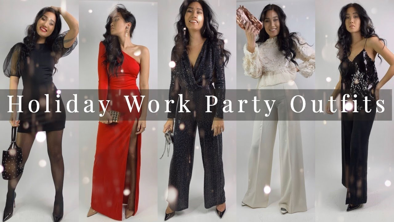 [VIDEO] - HOLIDAY WORK PARTY OUTFITS | CHRISTMAS LOOKBOOK 2019 | reesewonge 4