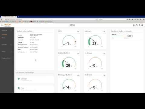 ArubaOS NextGen UI on 2930F - YouTube
