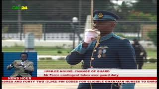 Jubilee House: Air Force contingent takes over guard duty from the Navy contingent