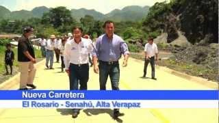 Ministro Sinibaldi y Embajador de Japón supervisaron carretera hacia Senahú Alta Verapaz