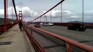 Bike riding along the Golden Gate Bridge