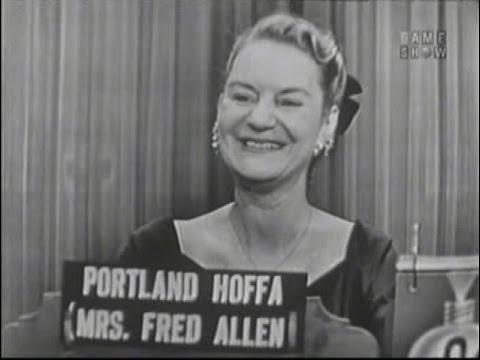 What's My Line? - Portland Hoffa [Fred Allen's wife!]; Reginald Gardiner [panel] (Feb 27, 1955)