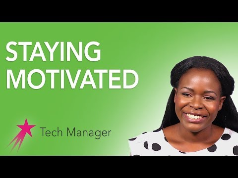 Tech Manager: Staying Motivated - Elizabeth Kalitsiro Career Girls Role Model