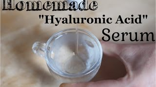 Hyaluronic Acid (Sodium Hyaluronate) Serum DIY Recipe and Benefits