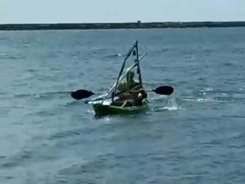Kayak Sail test, Philippines, Quezon, Lucena City, Talo Talo