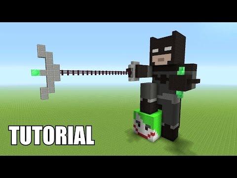 Minecraft Tutorial How To Make A Batman Statue Batman V Superman