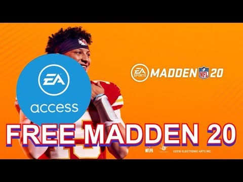 HOW TO GET MADDEN 20 FREE WITH UNLIMITED EA ACCESS  GLITCH(2019)