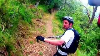 mountain biking in molini with riviera bike