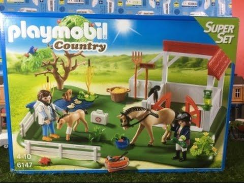 unboxing Playmobil 6147 Horse Paddock SuperSet (03973)