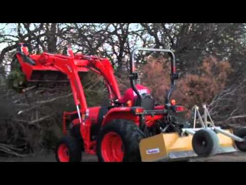 John Deere Air Compressor >> Kubota and Grapple - YouTube