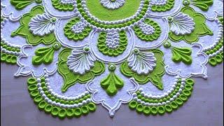 Beautiful rangoli design with two colours l muggulu kolam rangoli l रंगोली डिजाइन l Rangoli designs