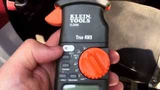 First Test of Motorhome Current Draw with Klein CL2000
