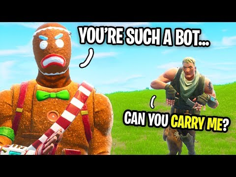 I Pretended To Be A NOOB and a STREAMER Tried To HELP ME WIN on Fortnite! (he had no idea)