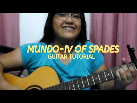 MUNDO - IV OF SPADES (GUITAR TUTORIAL)|| EASY CHORDS(TAGALOG)