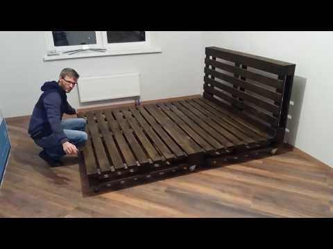 0 - Як зробити ліжко з піддонів?
