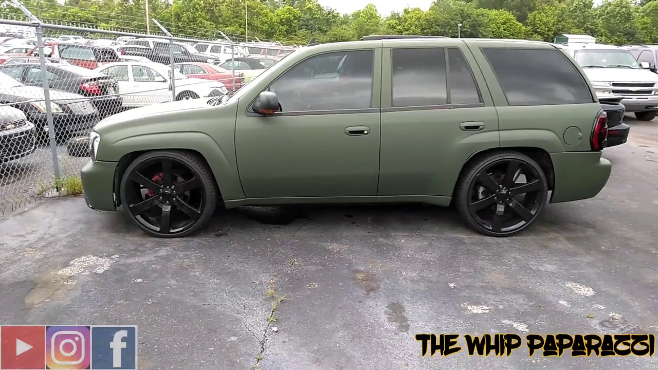 Wrapped Army Green Chevy Trailblazer SS Done By Sticky ...