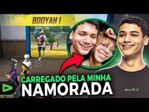 FUI CARREGADO PELA MINHA NAMORADA NA RANQUEADA - FREE FIRE!!