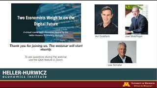 HHEI Webinar: Two Economists Weigh In on the Digital Future, 5/6/2020