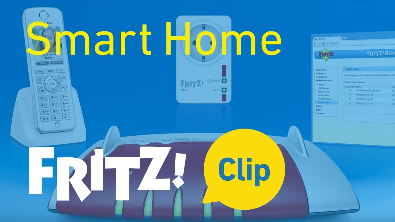 fritz clip smart home with smart plugs and the fritz box switching and measuring youtube. Black Bedroom Furniture Sets. Home Design Ideas