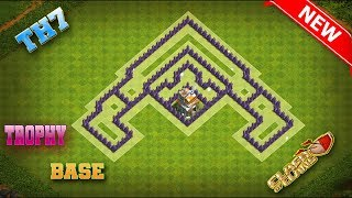 Savage Seven! Clash Of Clans Town Hall 7 (TH7) Trophy Pushing Base -2018