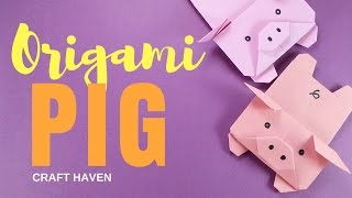 Cute and Easy Origami Pig - Origami Pig Tutorial for Beginners - #Origami Animal - DIY Paper Pig