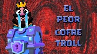 Repeat youtube video ¡¡EL PEOR COFRE TROLL DE LA HISTORIA!! | El Cofre Troll | Clash Royale con TheAlvaro845 | Español