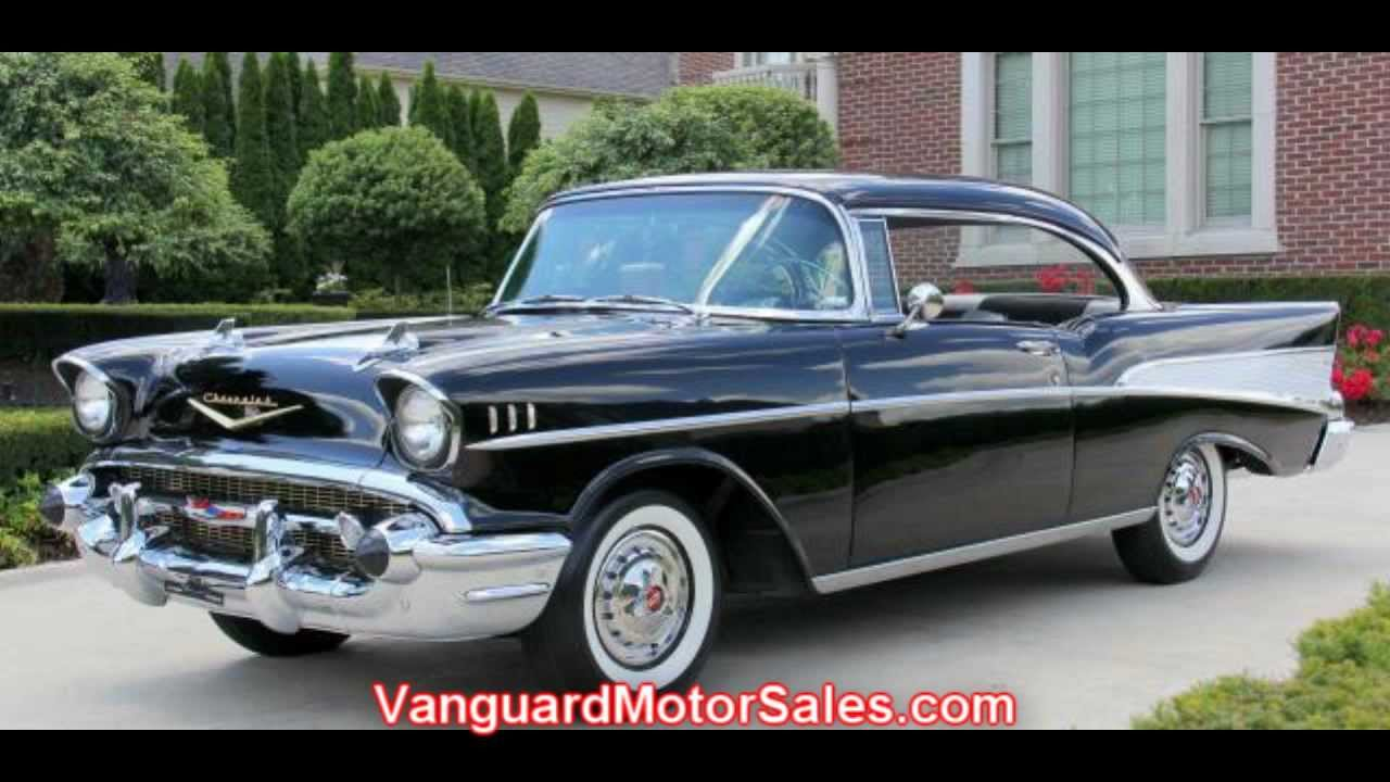 1957 Chevy Bel Air 2 Door Hardtop Classic Muscle Car for Sale in MI     1957 Chevy Bel Air 2 Door Hardtop Classic Muscle Car for Sale in MI  Vanguard Motor Sales   YouTube