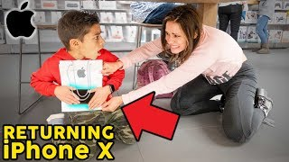 Returning Our Son's IPHONE X **GONE WRONG** | The Royalty Family