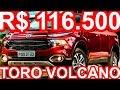 SLIDES R$ 116.500 Fiat Toro Volcano TurboDiesel AT9 4x4 170 cv 35,7 mkgf 0-100 kmh 10s #FiatToroLive