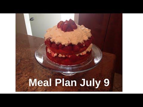 Meal Plan July 9   Recipe Links