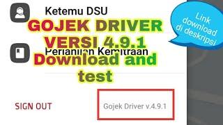 Gambar cover Gojek driver ori versi 491 download and test