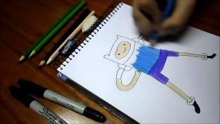 Dibujando a Finn / Hora de Aventura