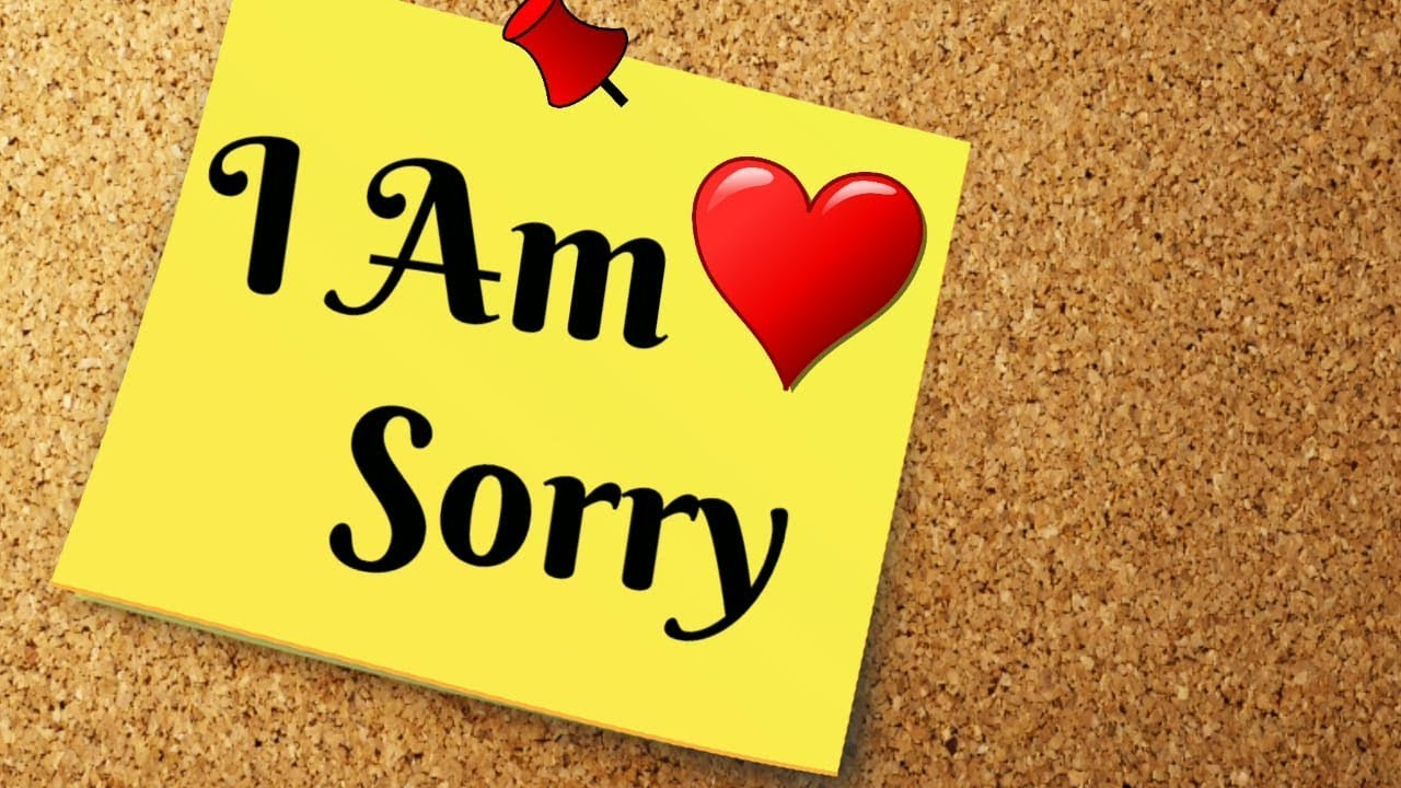 Sorry video message ( I Am Sorry Video ) - Short Status - YouTube