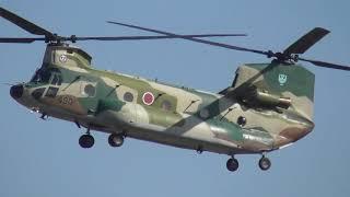 20181103 チヌーク!! CH-47J 放水展示飛行展示Fire Fighting Chinook 20...