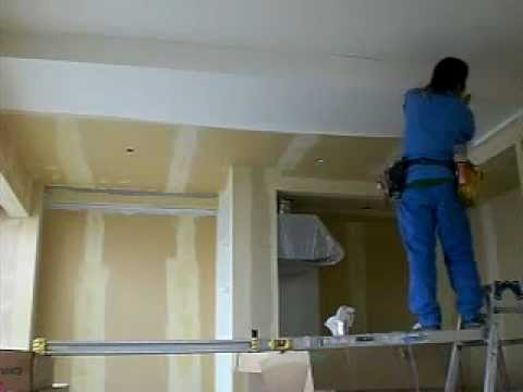 wallpaper ceiling installing in japan 2 - YouTube