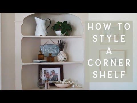 HOW TO STYLE A CORNER SHELF | Decorating Tips | Bookshelf Decor
