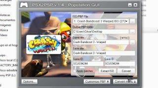 PSX2PSP  -   Converter iso, bin, img psx to eboot.pbp for PSP