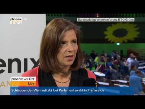Bundesparteitag B'90/Grüne: Katrin Göring-Eckardt im Interview am 18.06.2017