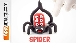 Friendly Monster Spider  - polymer clay tutorial for kids based on Hey Clay Bugs app