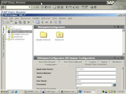 tibco sap r3 adapter create a connection youtube