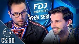 Zankioh et Nameless chaud bouillant au cast sur ce tournoi CS:GO - FDJ Open Series