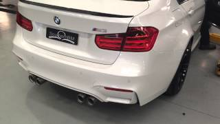 BMW M3 F80 BMW M Performance exhaust fresh install first cold start and a few revs
