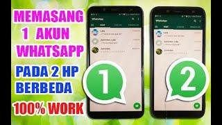 Cara Membuka Whatsapp 1 Nomor Dalam 2 HP Berbeda Whatsapp Clone NO ROOT